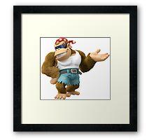 Funky Kong, Donkey Kong Framed Print