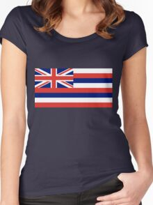 Hawaii State Flag Women's Fitted Scoop T-Shirt