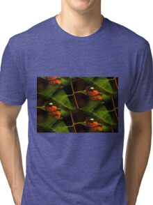 Abstract butterfly fun time Tri-blend T-Shirt