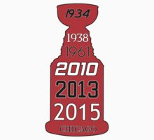 Chicago Blackhawks Stanley Cup Years Kids Tee