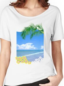 Beach And Palm Trees Women's Relaxed Fit T-Shirt