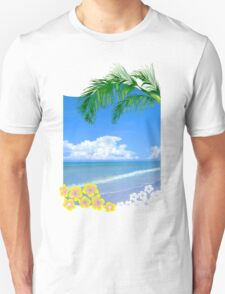 Beach And Palm Trees Unisex T-Shirt