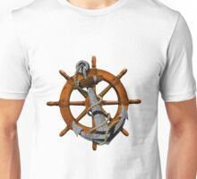Captain's Wheel And Anchor Unisex T-Shirt