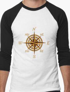 Vintage Compass Rose Men's Baseball ¾ T-Shirt