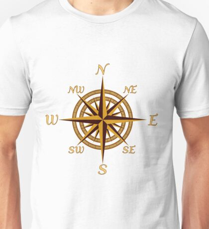 Vintage Compass Rose Unisex T-Shirt