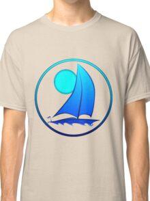 Blue Sailboat Classic T-Shirt