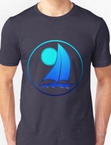 Blue Sailboat Unisex T-Shirt