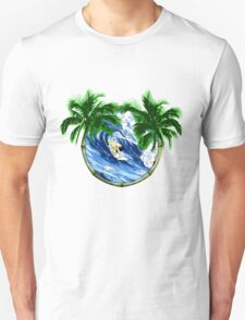 Surfer And Palm Trees T-Shirt