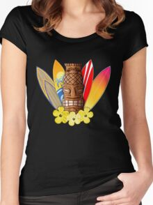 Surfboards And Tikis Women's Fitted Scoop T-Shirt