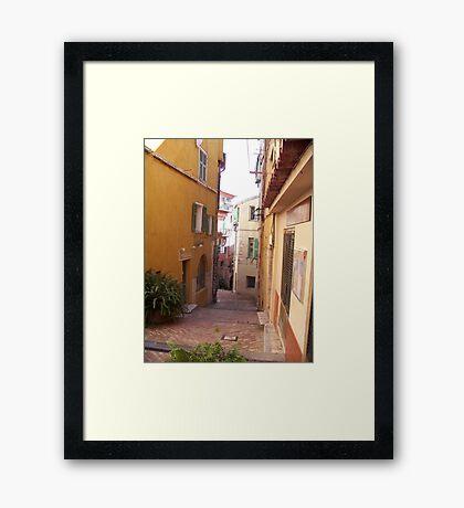 Villefranche  Street View Framed Print