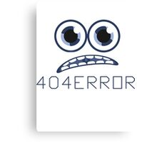 404.error Canvas Print