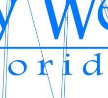 Blue Key West Sailing Sticker
