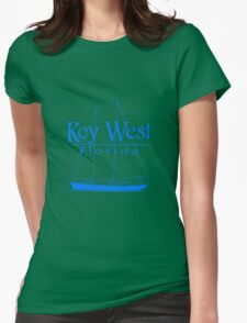 Blue Key West Sailing Womens Fitted T-Shirt