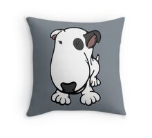 Blabla Black Eye Patch Cartoon Bull Terrier Throw Pillow