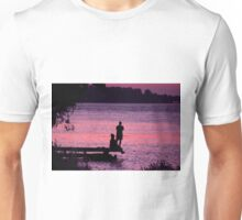 Silhouette on Dock Unisex T-Shirt