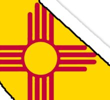 New Mexico flag California outline Sticker