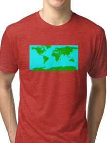 THE WORLD'S GREATEST PLANET ON EARTH Tri-blend T-Shirt
