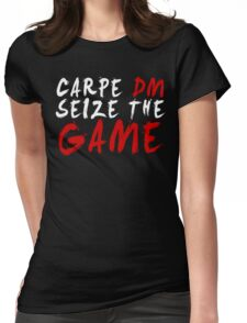 Carpe DM, Seize The Game - Dungeons & Dragons (White) Womens Fitted T-Shirt