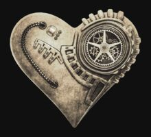Steampunk Clockwork Heart One Piece - Short Sleeve