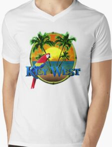 Key West Sunset Mens V-Neck T-Shirt