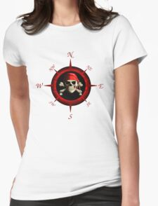 Pirate Compass Rose Womens Fitted T-Shirt