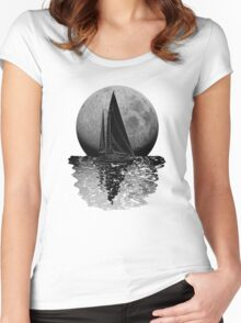 Midnight Sailing Women's Fitted Scoop T-Shirt