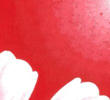 Red Monochromatic Tulip Painting Sticker