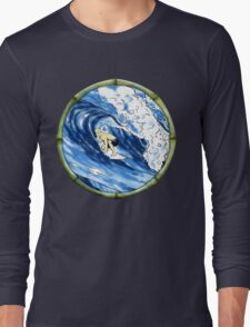 Surfing The Pipe Long Sleeve T-Shirt