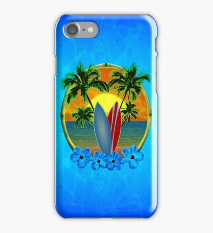 Sunset And Surfboards iPhone Case/Skin
