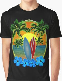 Sunset And Surfboards Graphic T-Shirt