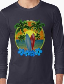 Sunset And Surfboards Long Sleeve T-Shirt