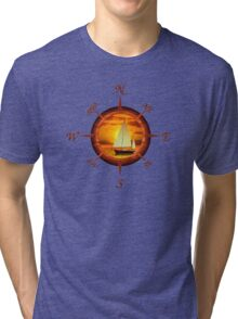 Sailboat And Compass Tri-blend T-Shirt
