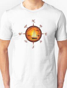 Sailboat And Compass T-Shirt