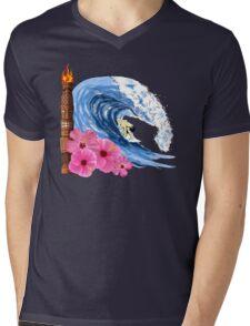 Hawaiian Surfing Mens V-Neck T-Shirt