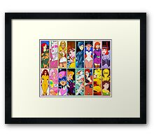 80s Girls Totally Radical Cartoon Spectacular!!! - WOMEN OF ACTION EDITION! Framed Print