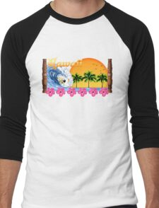 Hawaii Surf Men's Baseball ¾ T-Shirt