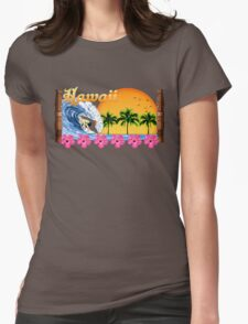 Hawaii Surf Womens Fitted T-Shirt
