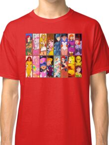 80s Girls Totally Radical Cartoon Spectacular!!! - WOMEN OF ACTION EDITION! Classic T-Shirt