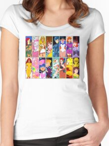 80s Girls Totally Radical Cartoon Spectacular!!! - WOMEN OF ACTION EDITION! Women's Fitted Scoop T-Shirt