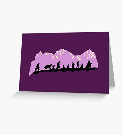 The Fellowship of The Ring Greeting Card