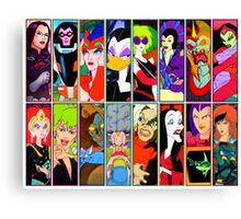 80s Girls Totally Radical Cartoon Spectacular!!! - BAD GIRLS EDITION! Canvas Print