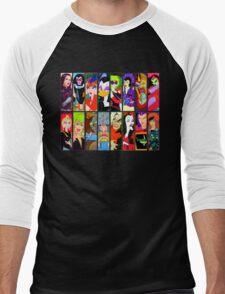 80s Girls Totally Radical Cartoon Spectacular!!! - BAD GIRLS EDITION! Men's Baseball ¾ T-Shirt