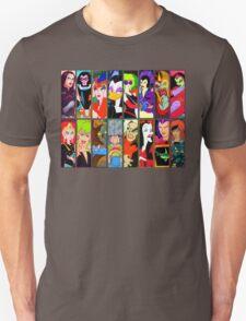 80s Girls Totally Radical Cartoon Spectacular!!! - BAD GIRLS EDITION! T-Shirt
