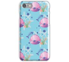 pearl in a shell, fish-bones, marine  iPhone Case/Skin