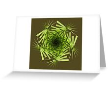 Palm Frond Fractal Greeting Card
