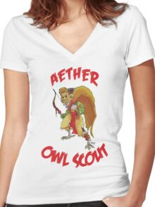 Aether the Scout  Women's Fitted V-Neck T-Shirt