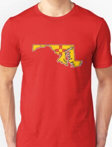New Mexico flag Maryland outline T-Shirt