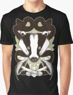 Badgering the snakes in the mushrooms Graphic T-Shirt