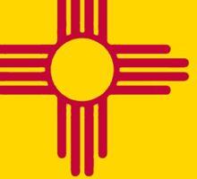New Mexico flag Missouri outline Sticker