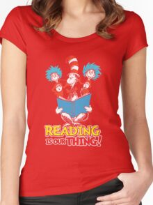 reading is our thing Women's Fitted Scoop T-Shirt